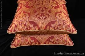 Lee Jofa Silk Damask Kravet Gold Velvet Large Designer Pillows