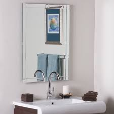 frameless bathroom mirror wall hanging fixing kit oval beveled