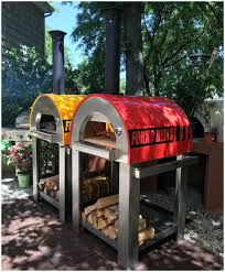 backyards winsome brick oven by hearthmastersoutdoor wood fired