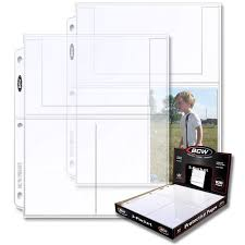 4x6 photo pages for 3 ring binder pro 3 pocket 4x6 page 100 ct box