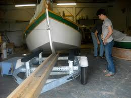 on the trailer and out of the garage build a boat sail away