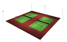 2 court recreational tennis court lighting 6 pole 12 fixture