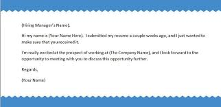 sending a cover letter and resume via email sending a cover