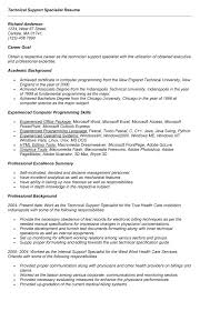 Medical Billing Specialist Resume Examples by Ideas Of Technical Support Specialist Resume Sample About Form