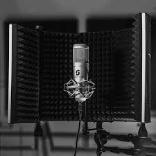 portable vocal booth pro with floor u0026 desk stands home recording