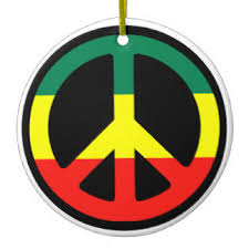 rasta peace sign ornaments keepsake ornaments zazzle