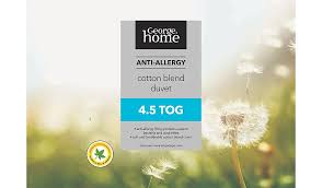 What Tog Duvet For 2 Year Old George Home Anti Allergy Duvet 4 5 Tog Home U0026 Garden George
