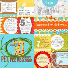 top 10 pet peeves