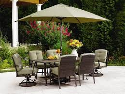 7 Pc Patio Dining Set Brilliant Madison Bay 7 Piece Patio Dining Set With Swivel Chairs