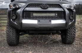2016 toyota tundra fog light bulb 2010 2016 toyota 4 runner led light mounts brackets by rigid