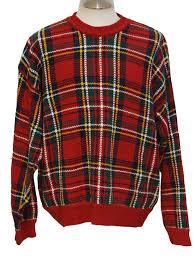 plaid sweater 1990 s mens tartan plaid sweater plaid menswear