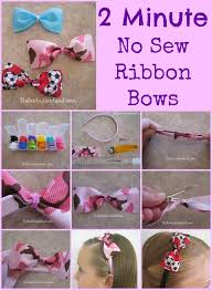baby hair ties 2 minute no sew ribbon bows from babesinhairland bows