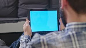 Coffee Table Uses by Poland Lublin 30 Jan 2017 Man Uses A Digital Tablet With A