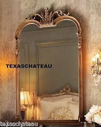 Large Arched Wall Mirror Large Ornate French Chic Arched Wall Mirror Arch Tuscan Decor