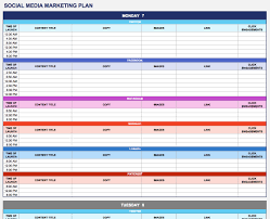 monthly day planner template free marketing plan templates for excel smartsheet social media marketing plan excel