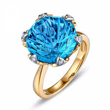 rings blue topaz images 14k yellow gold 9 68ct london blue topaz diamond engagement ring png