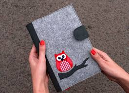 Journal Decorating Ideas by Refillable Felt Journal Cover Felt Notebook Cover Fabric Pano De