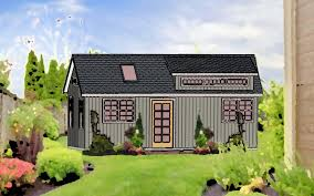 a grandmothers modern backyard cottage microhouse small house in