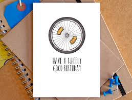 bicycle birthday card funny bicycle card bike by beckagriffin
