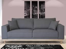 canapé gris 3 places canapé 3 places en tissu lionel coloris gris