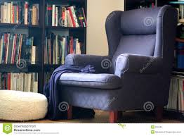 comfy library chairs comfortable arm chair stock photo image of books shelf 552344