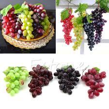 Home Decor Suppliers New Lifelike Artificial Grapes Plastic Fake Fruit Food Home Decor