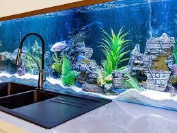 Home Aquarium Uncategories Home Aquarium Design Aquarium Hours Kitchen Island