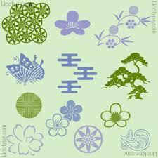itc japanese garden ornaments font family linotype