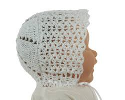 Vintage Style Baby Clothes Cotton Crocheted Baby Bonnet Vintage Style Crocheted Baby Bonnet