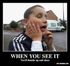 Thumbs Up Kid Meme - stupid kid when you see it you ll thumbs up and share 2e033c jpg