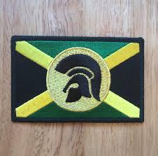 Jamaican Flag Shirt Trojan Jamaica Flag Patch Rasta Fairies Reggae Clothes