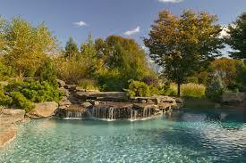 cool natural swimming pool designs ideas waterfall swimming pool