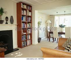 Ceiling Bookshelves by Floor To Ceiling Bookshelves In Cream Living Stock Photos U0026 Floor