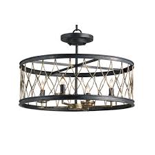 Clearly Modern Semi Flush Ceiling Light Top Clearly Modern Semi Flush Ceiling Light Intended For