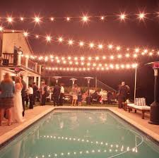 Backyard Wedding Lighting by Loving This Lights Installation Over A Pool Perfect For Pool