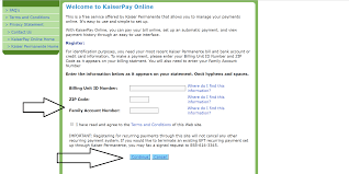 Where Can I Make A Www Kp Org Payonline Bill Pay Kaiserpay Kaiser Permanente