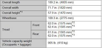 2011 toyota camry dimensions toyota camry dimensions and weights maintenance data fuel
