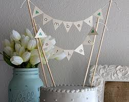 banner cake topper burlap alternative bunting banner wedding cake topper mr