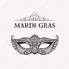 black and gold mardi gras beautiful mask of lace mardi gras vector background gold and