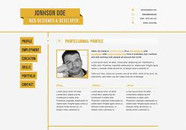 Free Web Resume Templates 10 Free Professional Html U0026 Css Cv Resume Templates 50resume Html