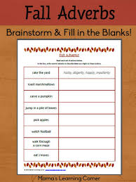 free fall adverbs worksheet adverbs worksheets and fall