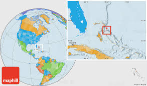 bahamas on a world map political location map of harbour island