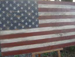 Blue Flag White X Distressed American Flag Wall Decor 32 Patriotic Red