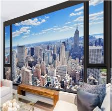 urban landscape custom mural wallpaper free shipping worldwide