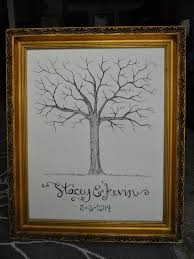 diy thumbrint tree guest book signed by soden