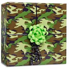 camo gift wrap camouflage gift wrap kit