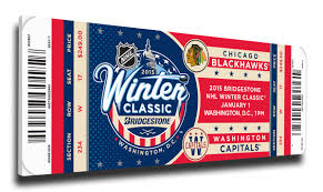 2015 nhl winter classic canvas mega ticket blackhawks vs capitals
