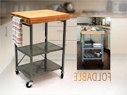 folding kitchen island cart origami butcher block cart kitchen island bar on wheels folding