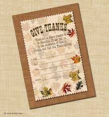 bnute productions free printable thanksgiving invitation