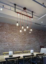 Pendant Lighting System Interior Modern Industrial Pendant Lighting With Triple White
